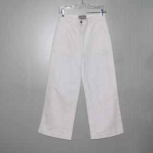 everlane women white wide leg pant SZ 6